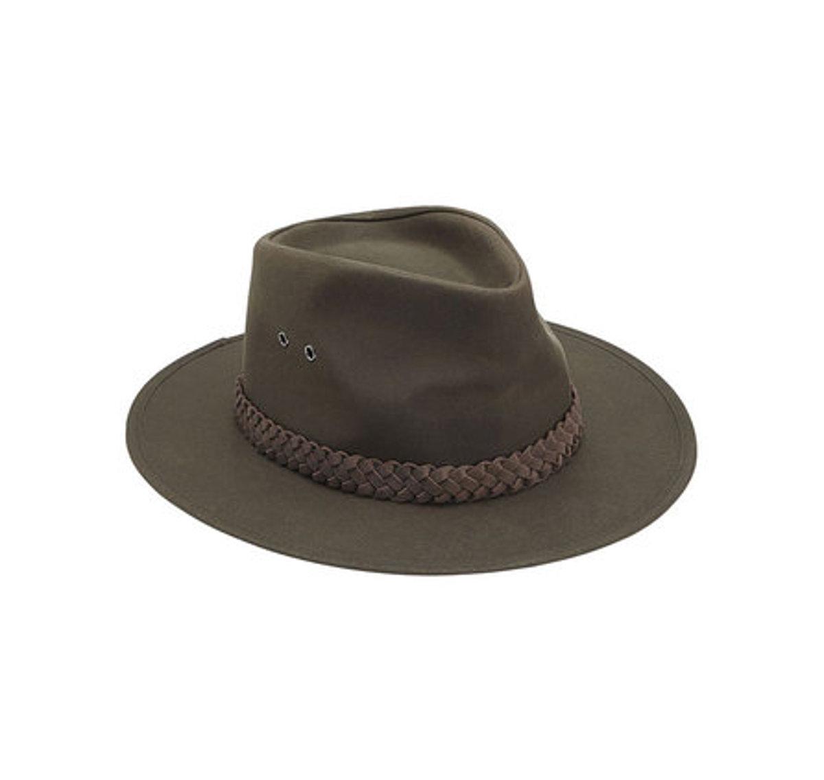 Barbour Wax Bushman Hat oliv - Wachshut - Waffen Brammer