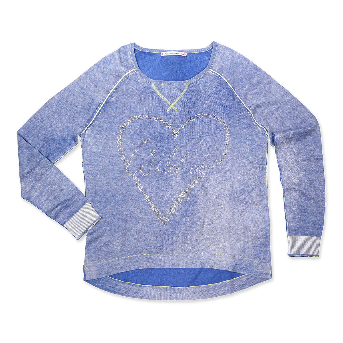 My Herzallerliebst Damenpullover Wild at Heart blau