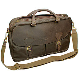 Barbour Wax Leather Briefcase - gewachste Aktentasche